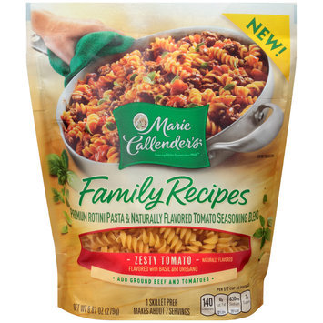 Marie Callender's® Family Recipes Zesty Tomato Pasta and Seasoning Blend Skillet Prep 9.87 oz. Bag