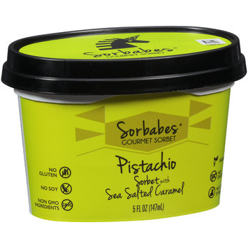 Sorbabes® Pistachio Sorbet with Sea Salted Caramel 5 fl. oz. Tub