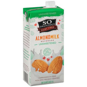 So Delicious® Dairy Free Unsweetened Almondmilk Beverage 1 qt. Carton