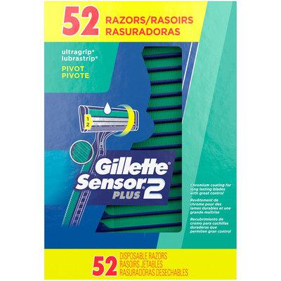 Gillette® Sensor2 Plus® Disposable Razors 52 ct Box
