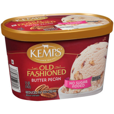 Kemps® No Sugar Added Old Fashioned Butter Pecan Reduced Fat Ice Cream 1.5 qt. Tub