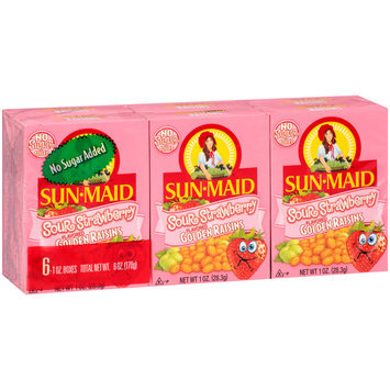 Sun-Maid® Sour Strawberry Flavored Golden Raisins 6-1 oz. Boxes