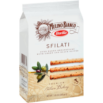 Barilla® Mulino Bianco Sfilati Oven Baked Breadsticks with Green and Black Olives 7.05 oz. Pack