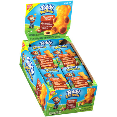Nabisco Teddy Soft Bakes Chocolate Filling Soft Baked Filled Snacks 12-1.06 oz. Packs