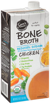 Sam's Choice™ Reduced Sodium Chicken Bone Broth 32 oz. Aseptic Carton