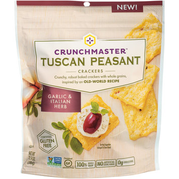 Crunchmaster™ Tuscan Peasant Garlic & Italian Herb Crackers