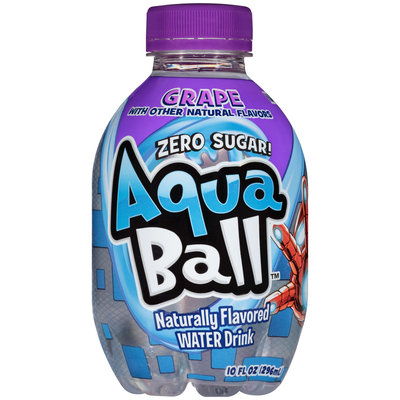AquaBall™ Grape Naturally Flavored Water Drink 10 fl. oz. Bottle