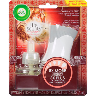 Air Wick® Life Scents™ Warm Apple Crisp Scented Oil Warmer + Refill 0.67 fl. oz. Carded Pack