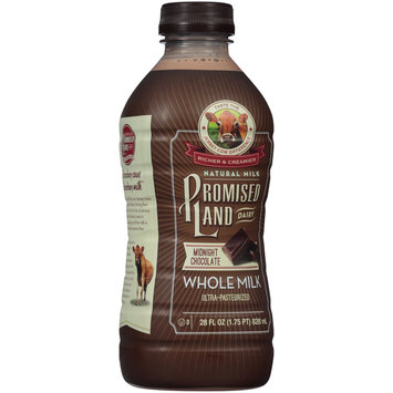 Promised Land Dairy® Midnight Chocolate Whole Milk 28 fl. oz. Bottle