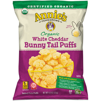 Annie's™ Organic White Cheddar Bunny Tail Puffs 4.3 oz. Bag