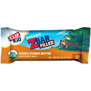 Clif Kid® Organic ZBar™ Filled Double Peanut Butter Baked Energy Snack 1.06 oz. Wrapper