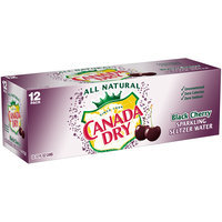 Canada Dry Black Cherry Sparkling Seltzer Water, 12 Fl Oz Cans, 12 Pack