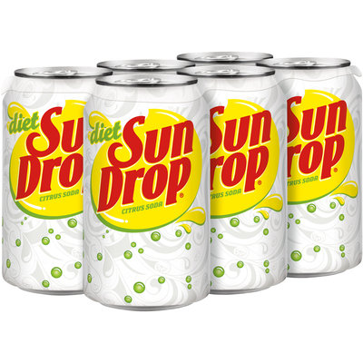 Diet Sun Drop, 12 Fl Oz Cans, 6 Pack