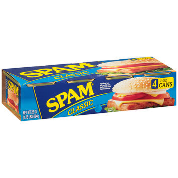 Spam® Classic Canned Meat 4-7 oz. Cans