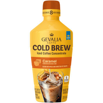 Gevalia Cold Brew Caramel Iced Coffee Concentrate 32 fl. oz. Bottle