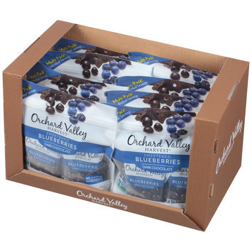 Orchard Valley Harvest® Dark Chocolate Sweetened Blueberries 8-1 oz. Bags
