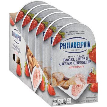 Philadelphia Multigrain Bagel Chips & Strawberry Cream Cheese Dip 6-2.5 oz. Trays