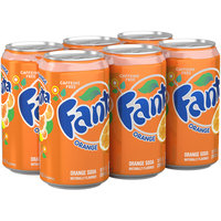 Fanta® Orange Soda 12 fl. oz. 6 pk Cans