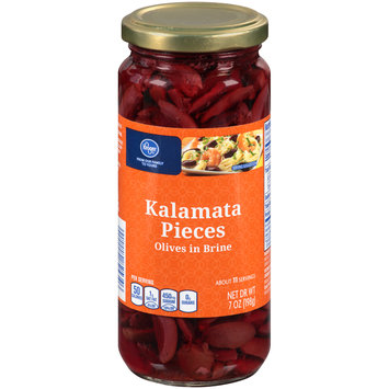 Kroger® Kalamata Pieces Olives in Brine 7 oz. Jar