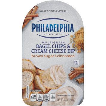 Philadelphia Multigrain Bagel Chips & Brown Sugar & Cinnamon Cream Cheese Dip 2.5 oz. Tray
