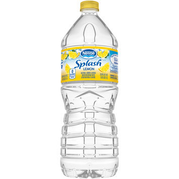 NESTLE SPLASH Water Beverages with Natural Fruit Flavors, Lemon 33.8-ounce plastic bottle