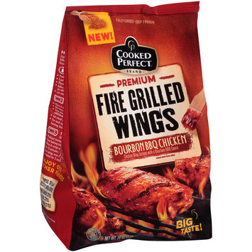 Cooked Perfect® Premium Fire Grilled Wings Bourbon BBQ 20 oz. Bag