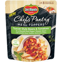 Del Monte® Chef's Pantry™ Meal Toppers Tuscan Style Beans & Tomatoes 14 oz. Pouch