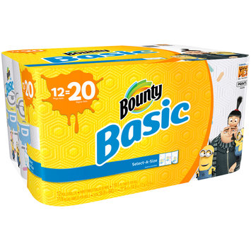 Bounty Basic Select-A-Size Paper Towels 12 ct Pack