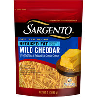 Sargento® Off the Block Reduced Fat Mild Cheddar Shredded Cheese 7 oz. Bag