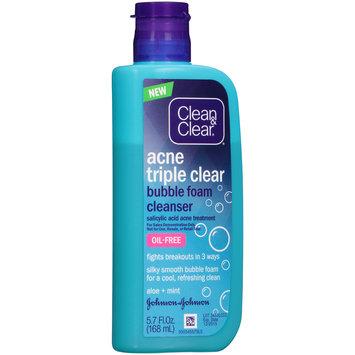 Clean & Clear® Acne Triple Clear Bubble Foam Cleanser 5.7 fl. oz. Bottle