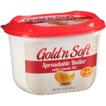 Gold 'n Soft® Spreadable Butter with Canola Oil 15 oz. Tub