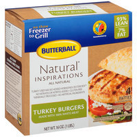 Butterball® Natural Inspirations Turkey Burgers 4 ct Box