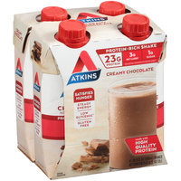 Atkins® Creamy Chocolate Protein-Rich Nutrition Shake 4-16.9 fl. oz. Aseptic Packs