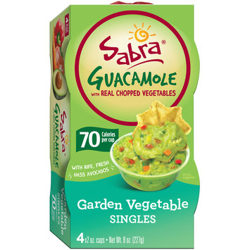 Sabra® Garden Vegetable with Real Chopped Vegetables Guacamole Singles 4-2 oz. Pack