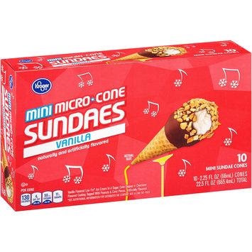 Kroger® Mini Micro Cone Vanilla Sundaes 10-2.25 fl. oz. Box