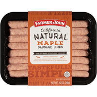 Farmer John® California Natural* Maple Sausage Links 12 oz. Pack