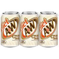 Diet A&W Cream Soda, 12 Fl Oz Cans, 6 Pack