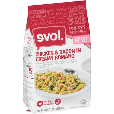 Evol. Chicken & Bacon in Creamy Romano 18 oz. Stand Up Bag
