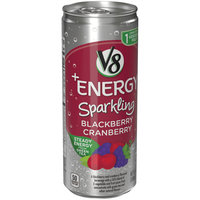 V8® +Energy Sparkling Blackberry Cranberry Juice