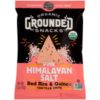 Lundberg® Organic Grounded Snacks™ Pink Himalayan Salt Red Rice & Quinoa Tortilla Chips 1.5 oz. Bag