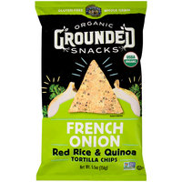 Lundberg® Organic Grounded Snacks™ French Onion Red Rice & Quinoa Tortilla Chips 5.5 oz Bag