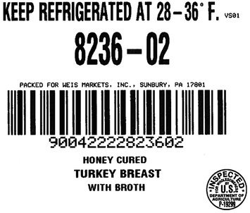 Weis Market Street® Honey Cured Turkey Breast with Broth, 1 count Package