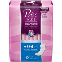 Poise Moderate Absorbency Regular Length Incontinence Pads 132 ct Pack