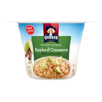 Quaker® Apples & Cinnamon Instant Oatmeal 1.51 oz. Cup