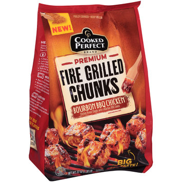 Cooked Perfect® Premium Bourbon BBQ Chicken Fire Grilled Chunks 22 oz. Bag