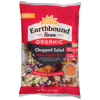 Earthbound Farm® Organic Chopped Salad BBQ Ranch Kit 11 oz. Bag