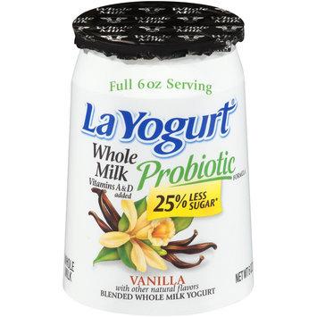 La Yogurt® Probiotic Vanilla Blended Whole Milk Yogurt 6 oz. Cup