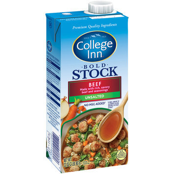 College Inn® Bold Unsalted Beef Stock 32 oz. Aseptic Carton