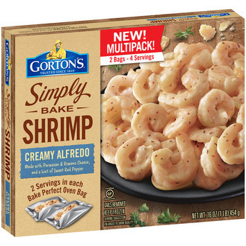 Gorton's® Simply Bake Creamy Alfredo Shrimp 16 oz. Box