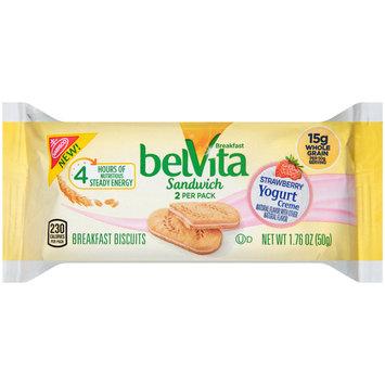 belVita Sandwich Strawberry Yogurt Creme Breakfast Biscuits 2 ct Pack